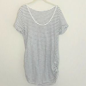 Motherhood Maternity Top Striped Ruched